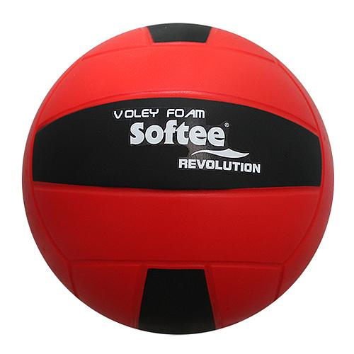 BALLON DE VOLLEY REVOLUTION EN MOUSSE ROUGE