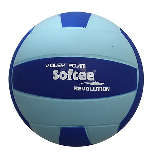 BALLON DE VOLLEY REVOLUTION EN MOUSSE BLEU